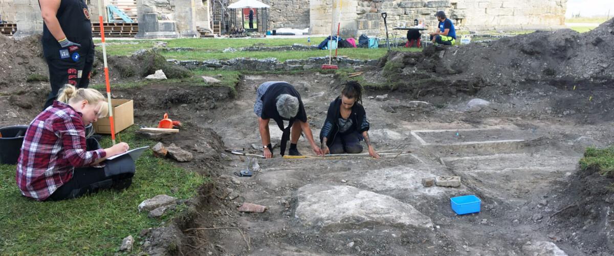 Utgrävning vid Roma kungsgård
